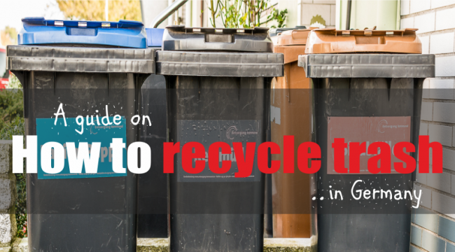 How to recycle Trash in Germany