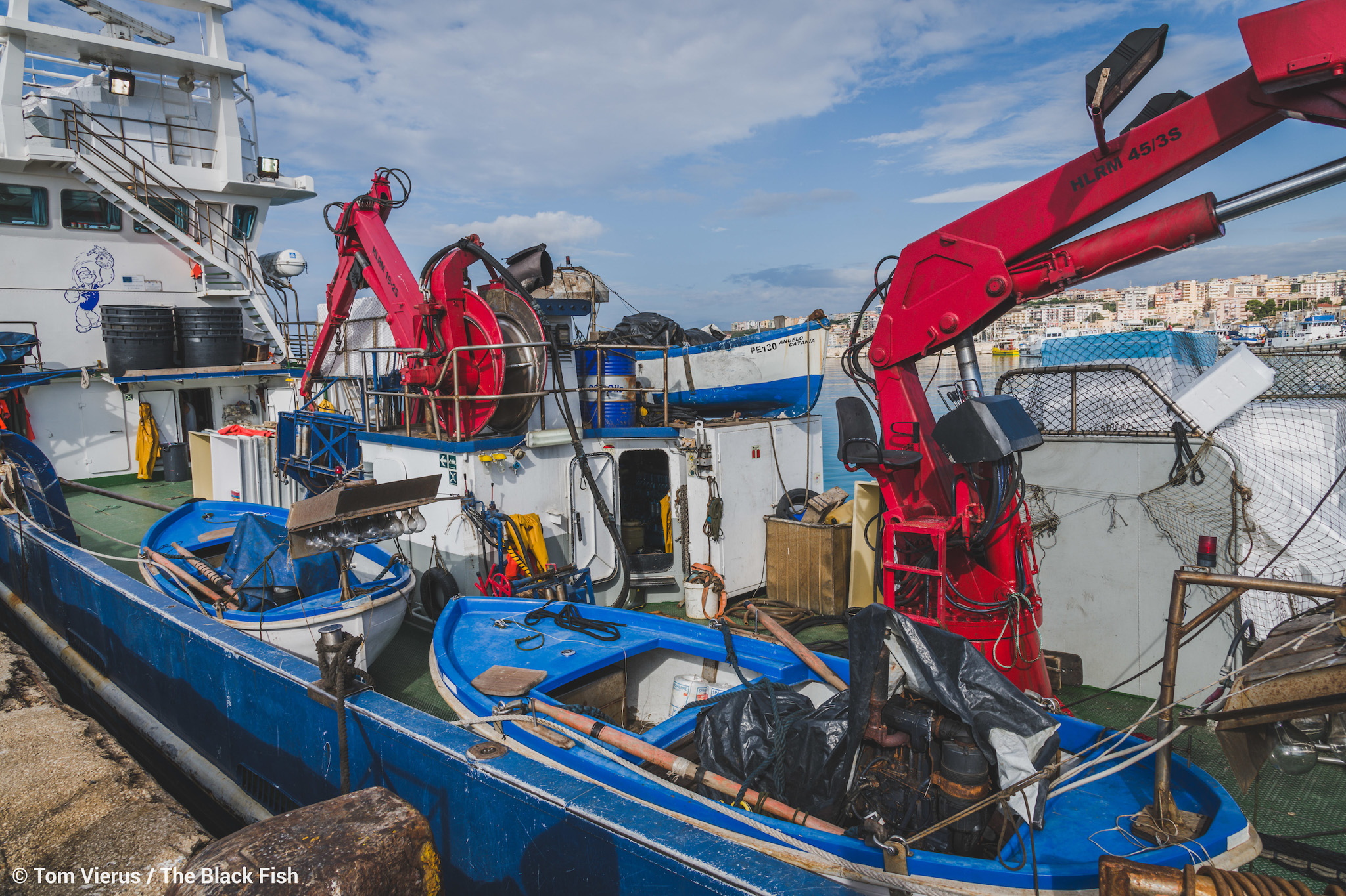 purse-seiners, fishing, sicily, harbour