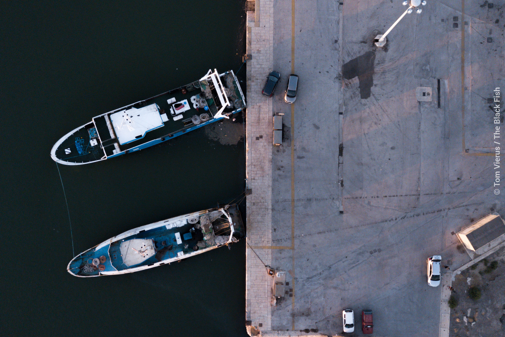 fishing vessels, italy, sicily, drone