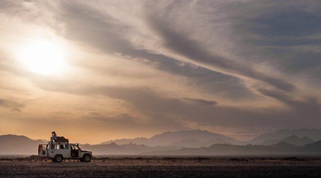 Jeep in Nabq, Dahab, Sinai, Egypt